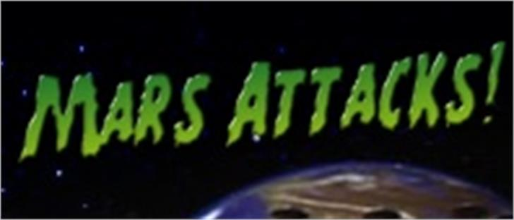 Mars Attacks font by Filmfonts