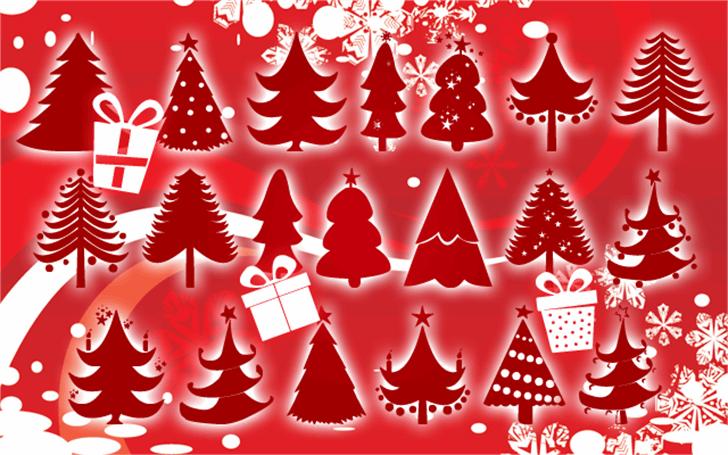 Christmas Trees Font christmas tree christmas