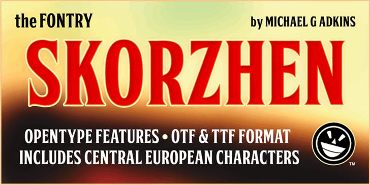 FTY SKORZHEN NCV Font design poster