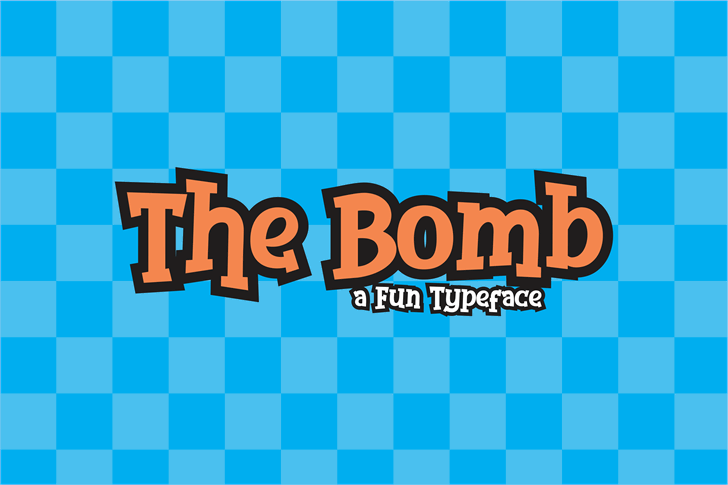 The Bomb Font poster