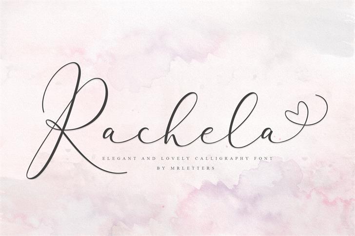 Rachela Bold Font handwriting text