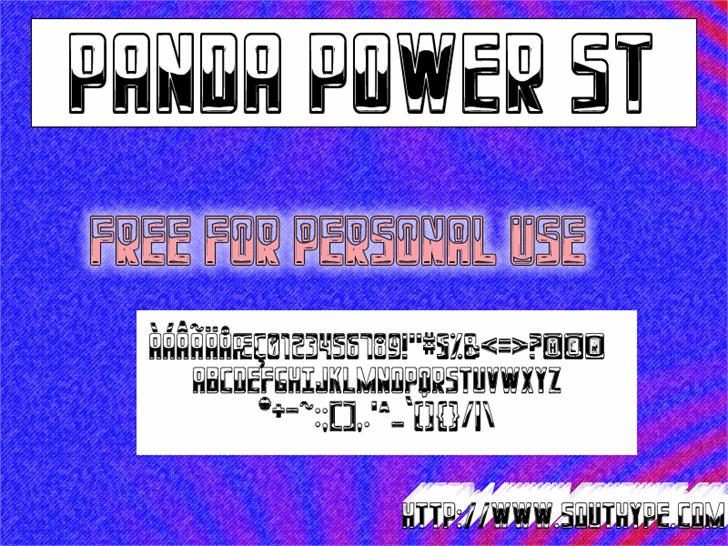 Panda Power St Font screenshot text