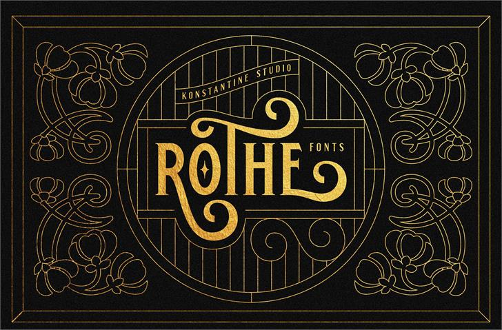 ROTHE DEMO Font design typography