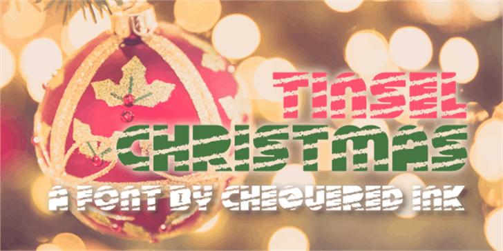 Tinsel Christmas Font design