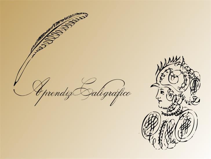 AprendizCaligrafico Font drawing sketch