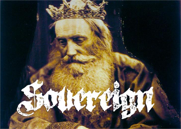 Sovereign font by Font Monger