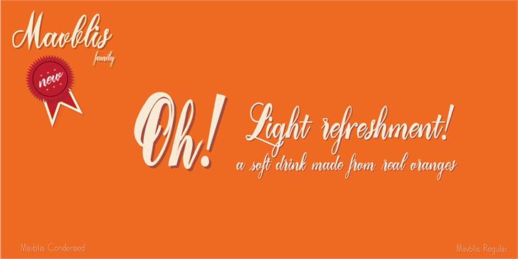 Mavblis Demo - Free For Persona Font design text