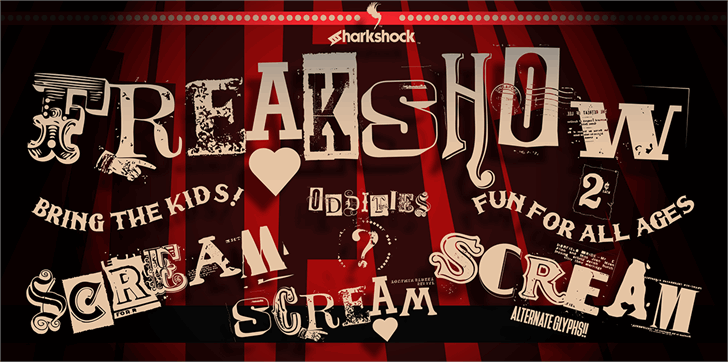 Freakshow Font poster cartoon
