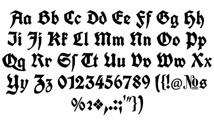 Koch Fette Deutsche Schrift font by Peter Wiegel