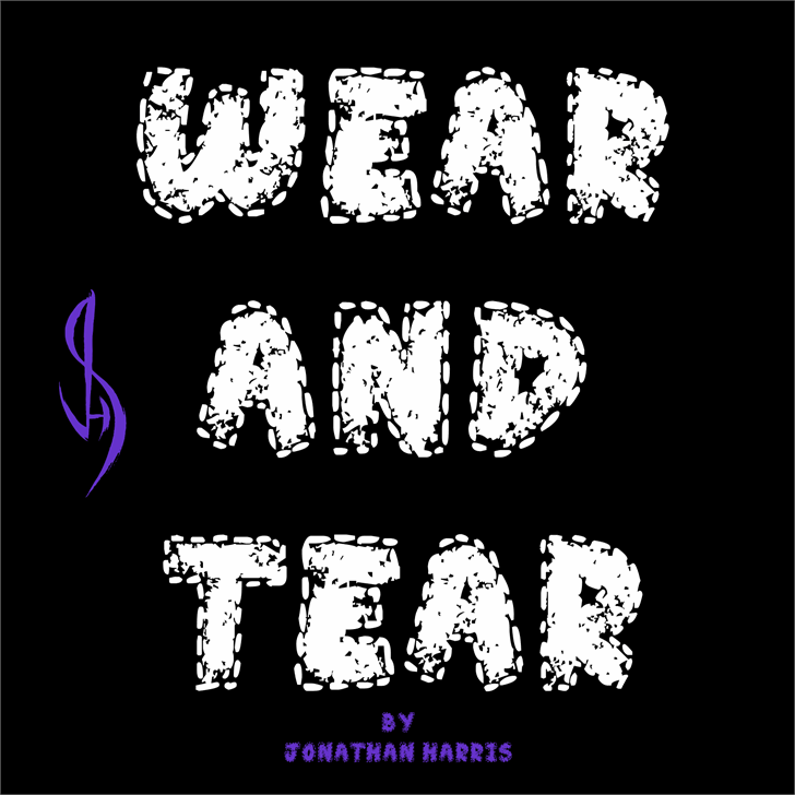 Wear and Tear font by Jonathan S. Harris