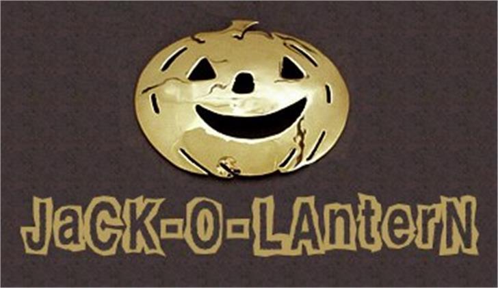 Jack-O-Lantern Font halloween pumpkin