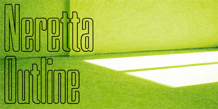Neretta Outline Font handwriting text