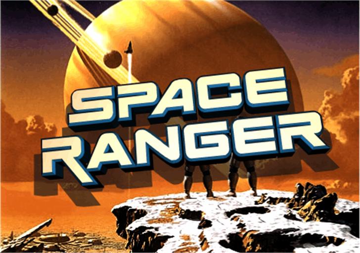 Space Ranger Font cartoon screenshot