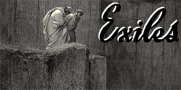 Exiles Font drawing sketch