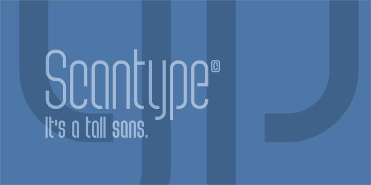 Scantype PERSONAL USE Font screenshot design