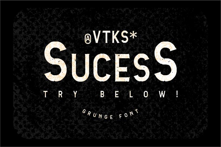 Vtks Sucess font by VTKS DESIGN