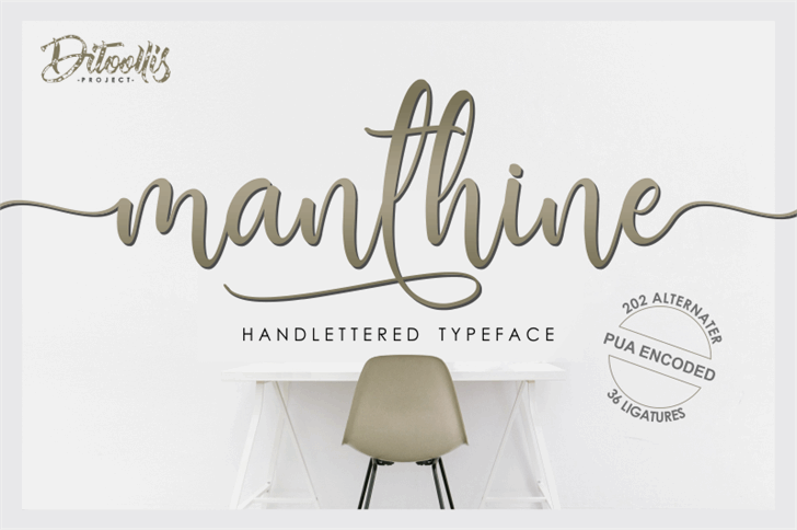 Manthine Personal Use Only Font poster