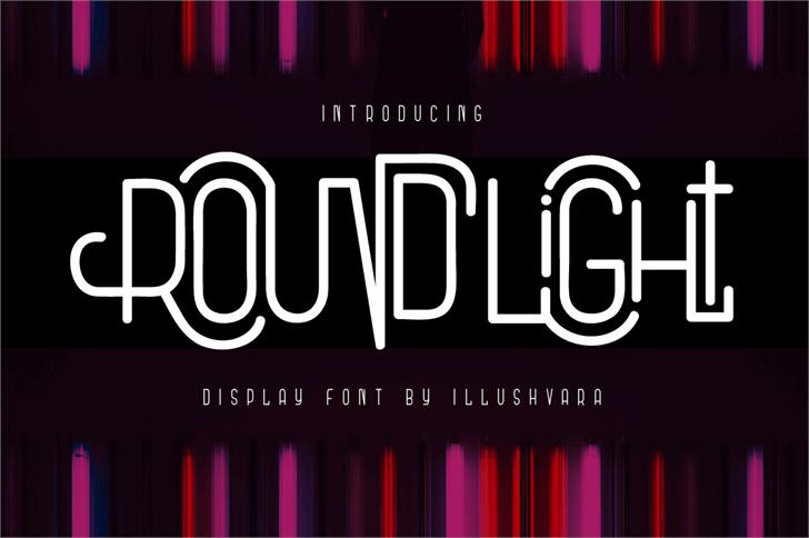 Round Light Font screenshot poster