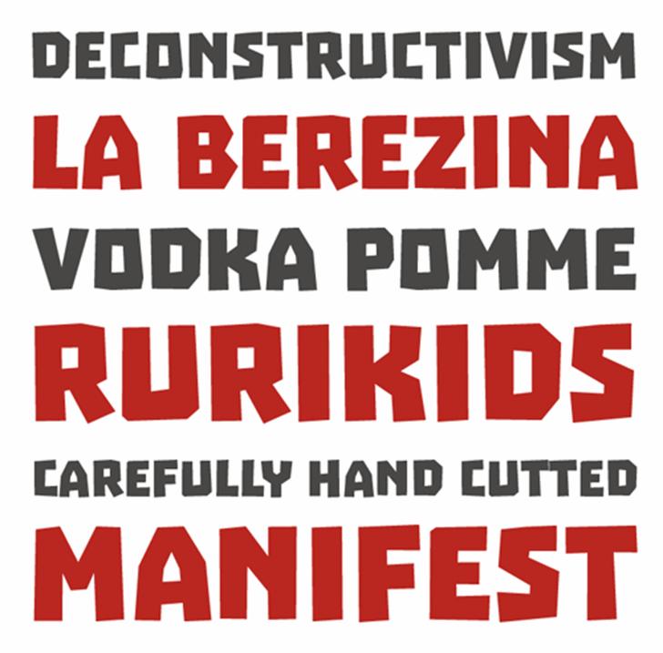 Troika Font bottle text