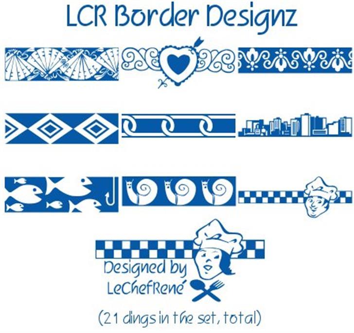 LCR Border Designz font by LeChefRene