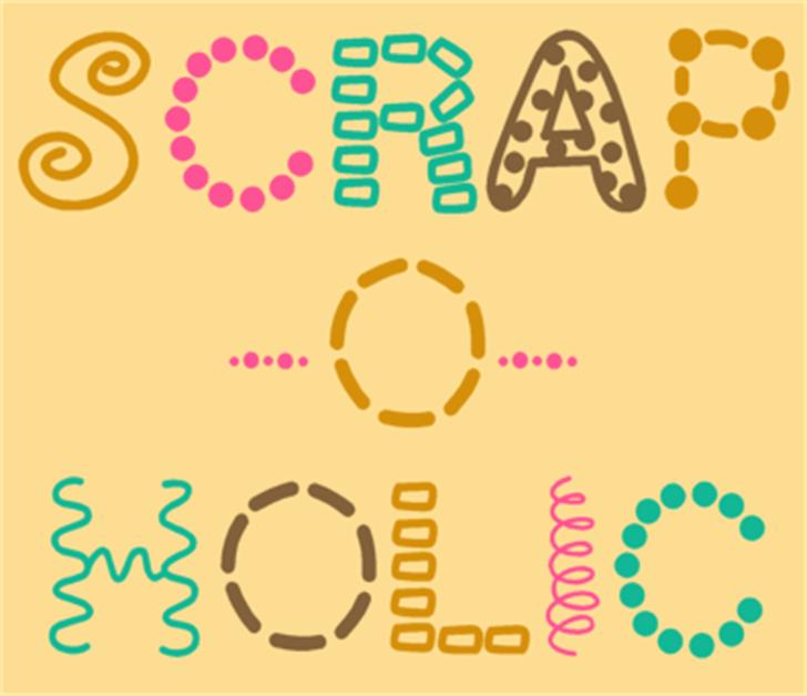 ScrapOHolic Font cartoon design