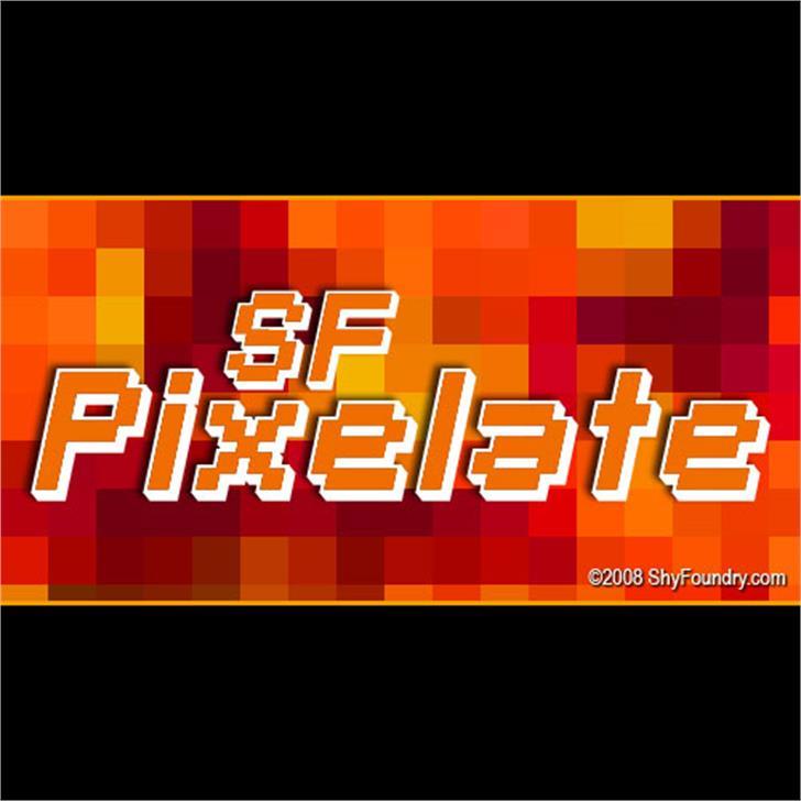 SF Pixelate Font screenshot design