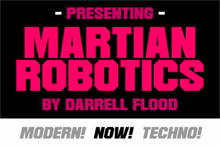 Martian Robotics Font poster design