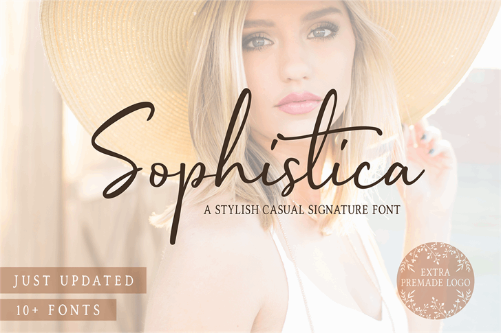 Sophistica 1 Font fashion cosmetics