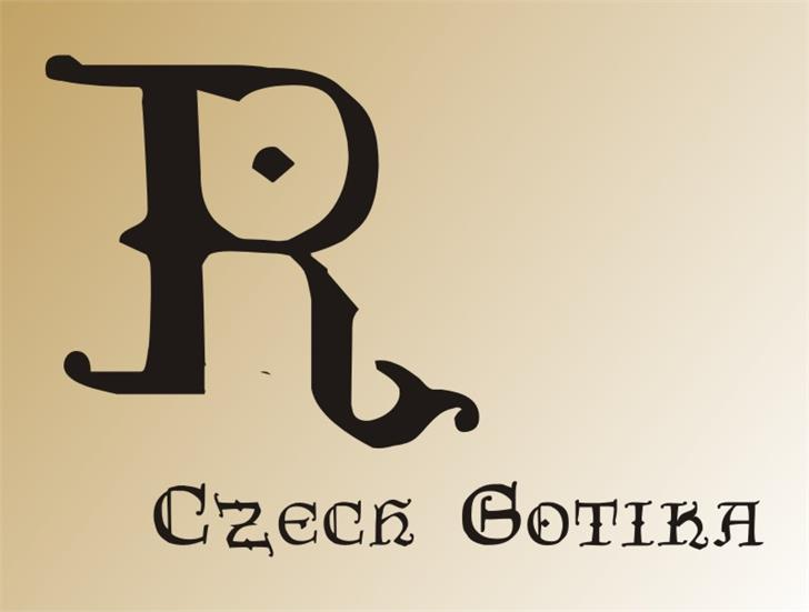 CzechGotika Font cartoon design
