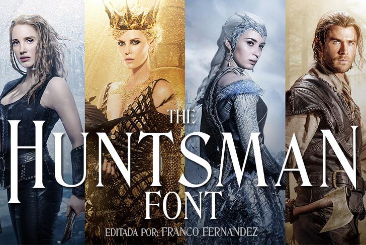 The Huntsman Font poster person