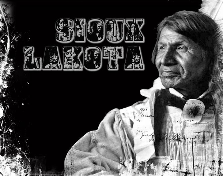 Sioux Font person man