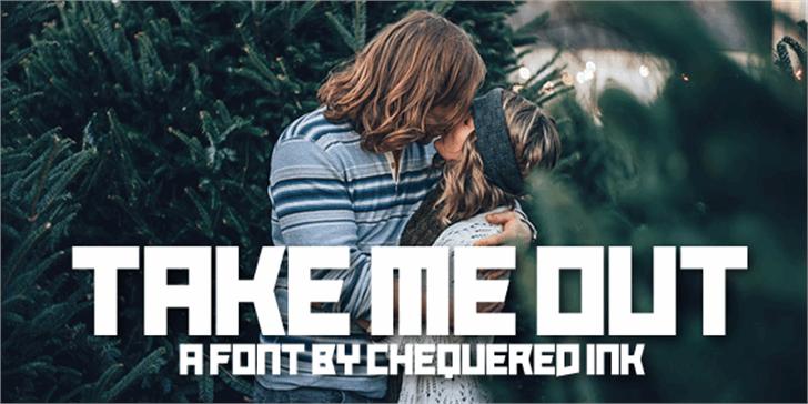 Take Me Out Font tree poster