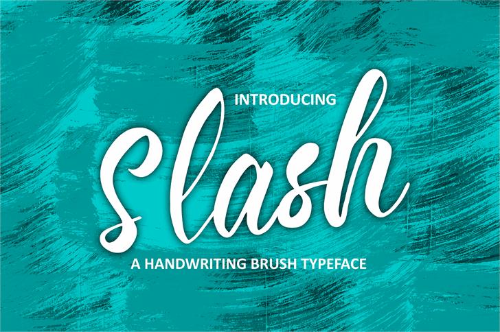Slash Font design swimming