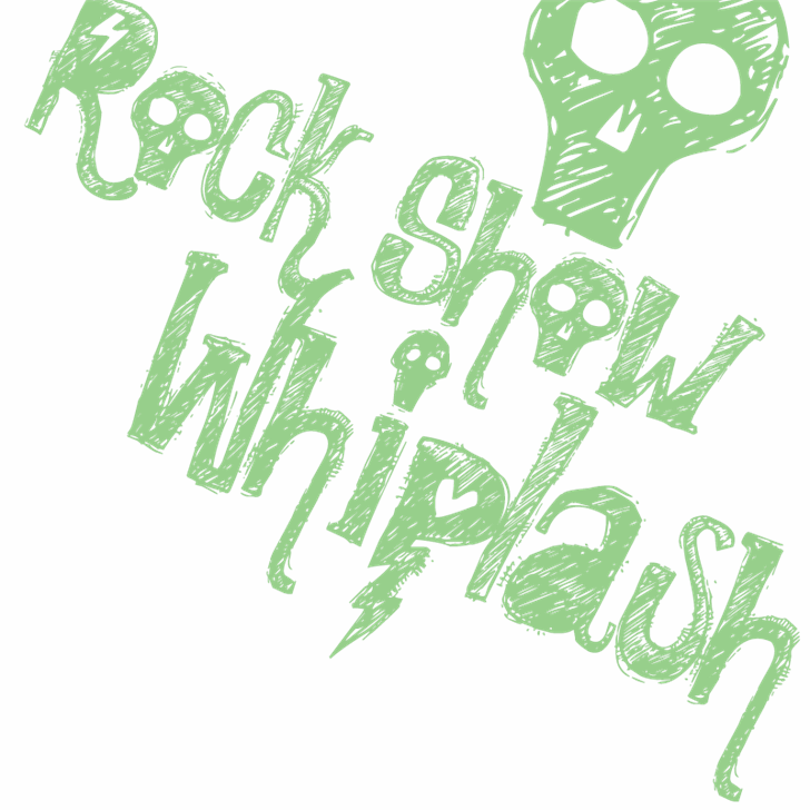 Rock Show Whiplash Font poster cartoon
