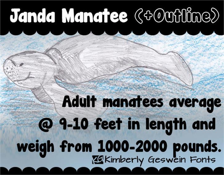 Janda Manatee Font text book
