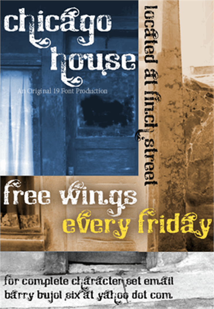 Chicago House_trial Font poster screenshot