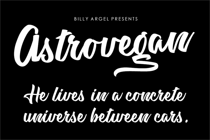Astrovegan Personal Use Font text design