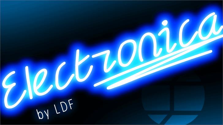 Electronica Font design screenshot