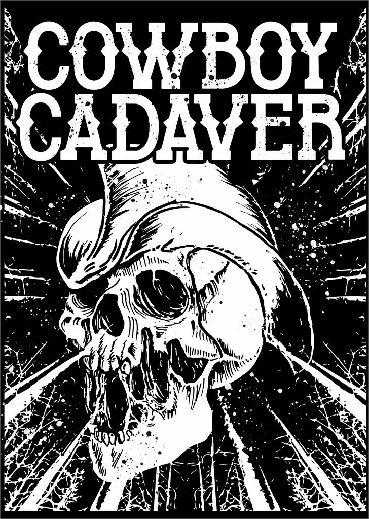 Cowboy Cadaver Font skull