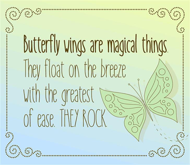 Cami Rae limited Font butterfly insect