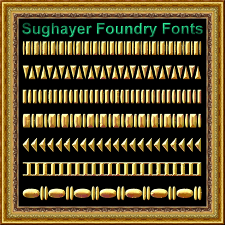 Vintage Borders_013 Font screenshot