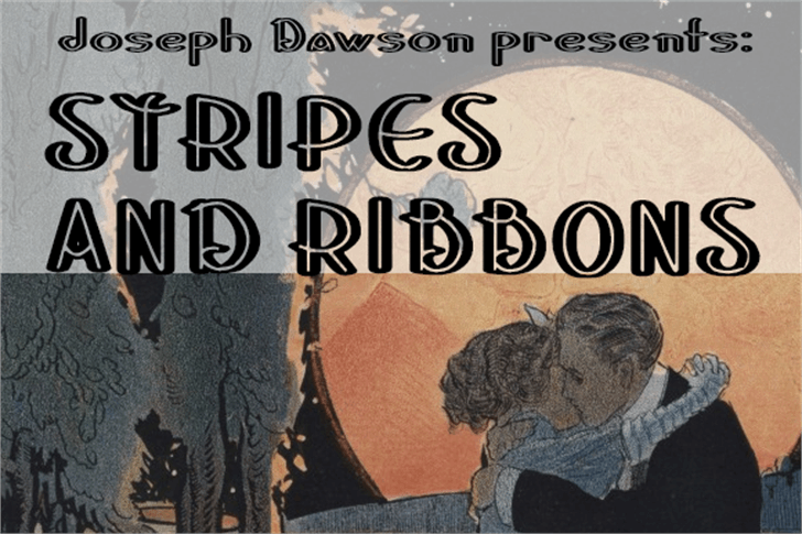Stripes and Ribbons Font book text