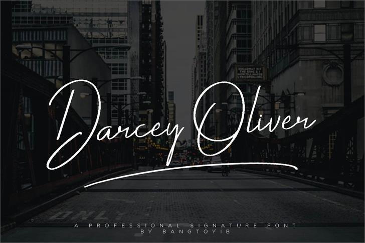 Darcey Oliver Font skyscraper screenshot