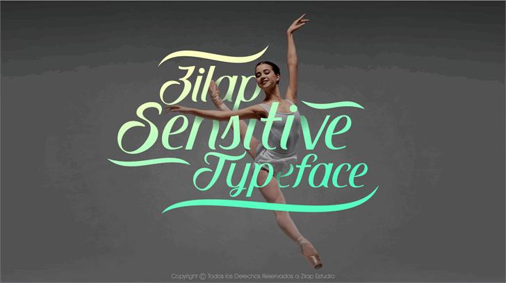 Zilap Sensitive DEMO Font dance woman