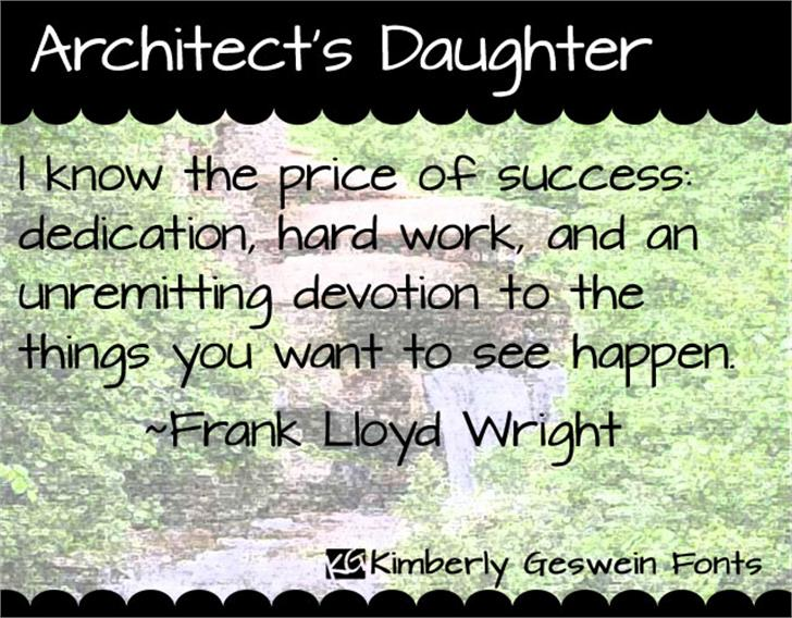 Architect's Daughter Font text screenshot