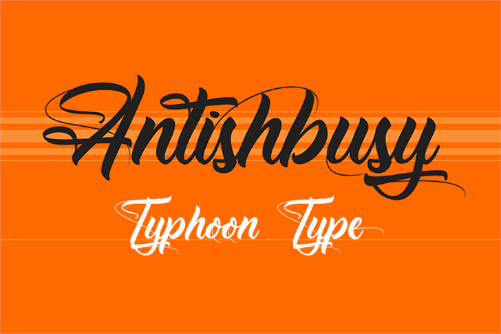 Antishbusy Font design text