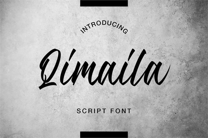 Attina Free Font poster