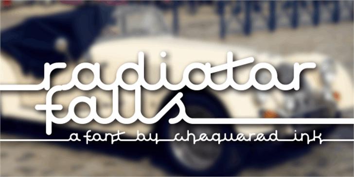 Radiator Falls Font screenshot design