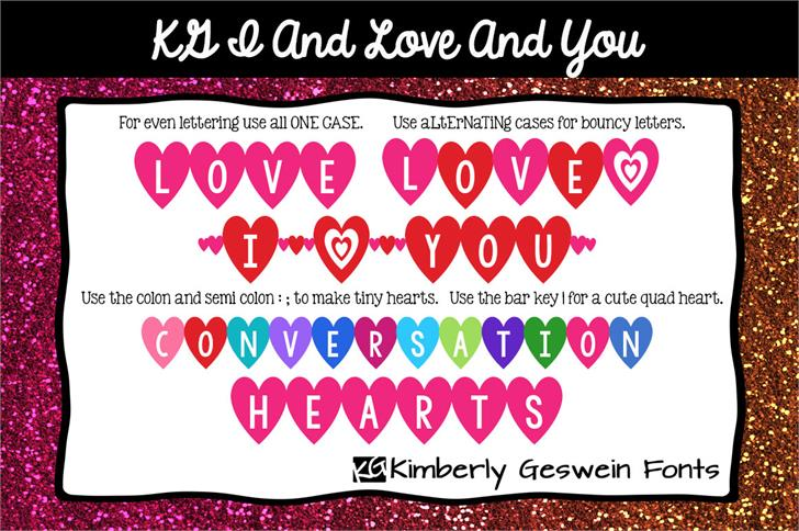 KG I And Love And You Font design graphic