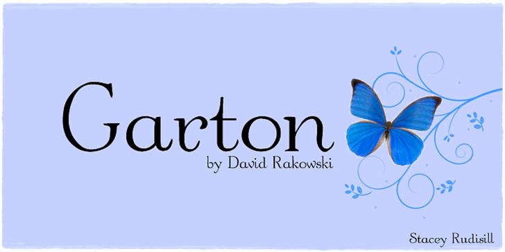 Garton Font design cartoon